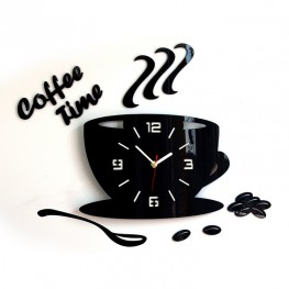 Zegar ścienny COFFEE TIME - Różne kolory