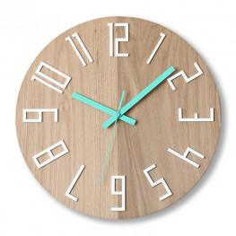 Zegar ścienny WOOD COLOR - Mięta